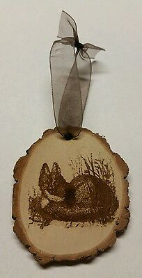 Rustic Country wood fox Christmas  Ornament