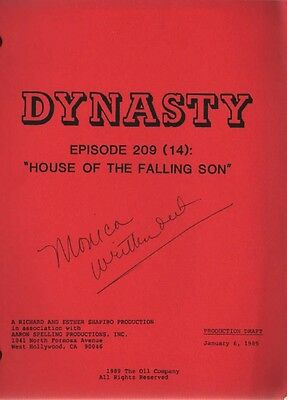 JOAN COLLINS - ORIGINAL DYNASTY SCRIPT 'House Of The Falling Son ' 1989 [C#44]