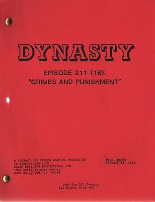 JOAN COLLINS - ORIG DYNASTY SCRIPT 'Grimes And Punishment' 1989' [C#44]