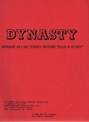 JOAN COLLINS - ORIG DYNASTY SCRIPT 'Every Picture Tells A Story ' 1988 [C#44]