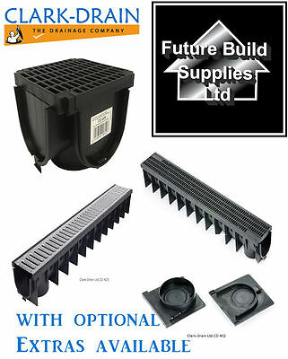 Heavy Duty PVC or Galvanised Channel Drainage Grating 1m Length Clark Drain