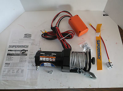 New SUPERWINCH 1220210 Electric Winch, 12VDC, 1 HP, 100A, 49 Ft. Rope