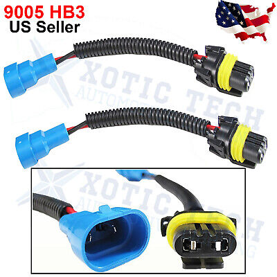 9145 H10 9005 HB3 Extension Wiring Harness Socket Plugs Wire Headlight Fog light
