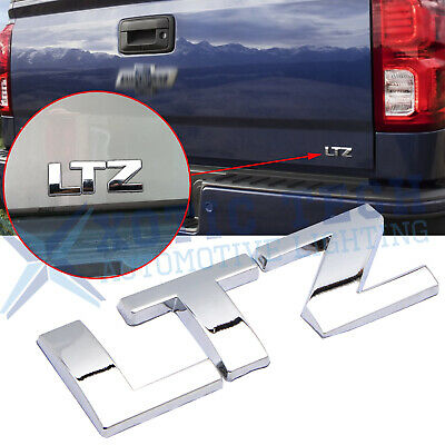 New Chrome OEM LTZ Emblem Badge 3D Letter for Chevrolet Silverado Tahoe Suburban