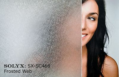 Frosted Web - Static Cling Window Film - DIY - (900mm x 1m)