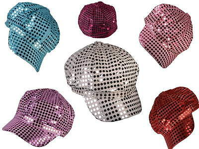 (Lot Of 12X) Sequin Newsboy Womans Party Hat Cap Cabbie Asst Colors Wholesale