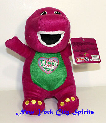 """Barney Plush Singing """" I Love You"""" Song 10 Inches"""