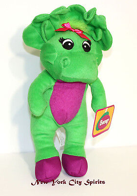 """Barney Baby Bop Plush Singing """"I Love You"""" Song 11 Inches"""