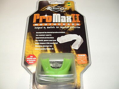 Reliance Promax 2 Mouthguard, Jnr Ages 5-11 Lime Green New