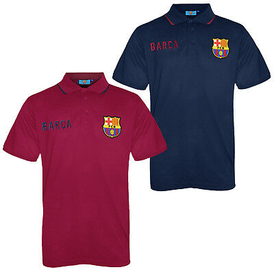 FC Barcelona Official Football Gift Mens Crest Polo Shirt Navy Blue
