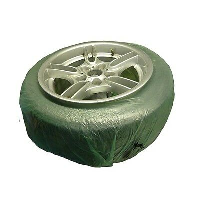 SMART 140cm Alloy Wheel Tyre Paint Covers Mask Film Elasticated Pack / 4