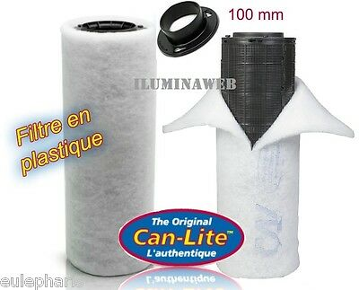 FILTRO de AIRE CAN-LITE 300 m3/h, Boca 100mm,CARBON ACTIVO ANTIOLOR, Extractor