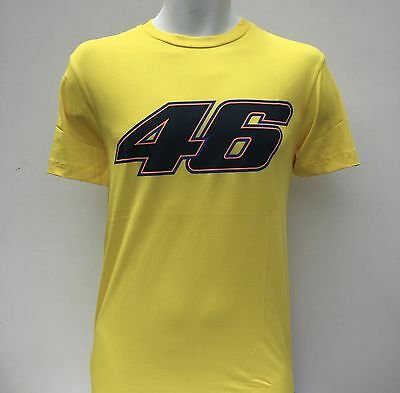 MENS Official Valentino Rossi T Shirt No 46 Moto GP Size S Yellow New