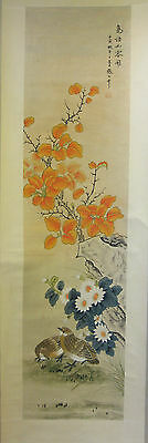Chinese hand-painted scroll painting birds and flowers wall or home decoration