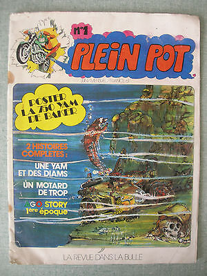 Fanzine Moto & Bd : Plein Pot N° 1 1977 – Genre Joe Bar Team – Michel Angelini