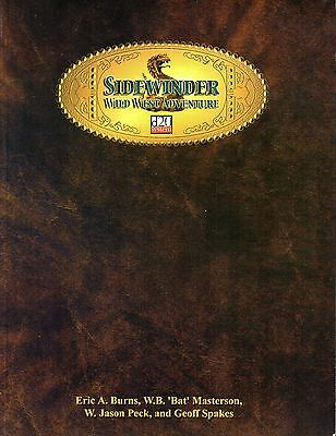SIDEWINDER-WILD WEST ADVENTURE-d20-Roleplaying Game-(SC)-very rare