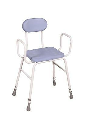 Drive Medical 706PU Deluxe Perching Stool for Bathroom/Shower/Kitchen