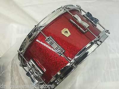 """Ludwig Classic Maple Snare Drum 6.5x14"""" Red Sparkle - NEW"""