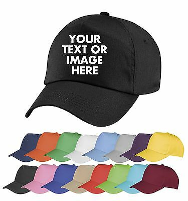 Personalised Embroidered Baseball Cap Custom Printed Hat Unisex
