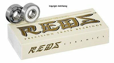 Bones Ceramic Super Reds Inline Speed Skate Bearings - Qty 20
