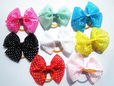 100 PCS/LOT Handmade Designer Pet Dog Accessories Grooming Hair Bows For Dogs