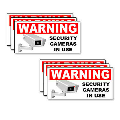 """5"""" Multi-pack (2,4,6) SECURITY CAMERA  IN USE Warning Decals Labels Stickers"""