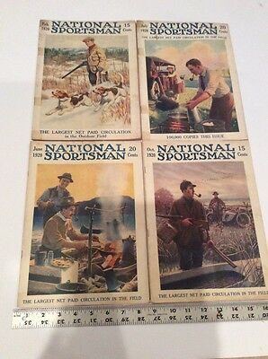 Lot Of 4 National Sportsman Magazine February, June, July, October Issues