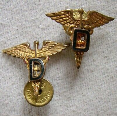 Dental Corps - US - 2 Abzeichen alt - Assmann + interessant - Art. 5020
