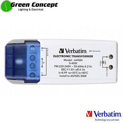 NEW VERBATIM 50w 12V AC MR16 Downlight LED Driver Electronic Transformer 52901