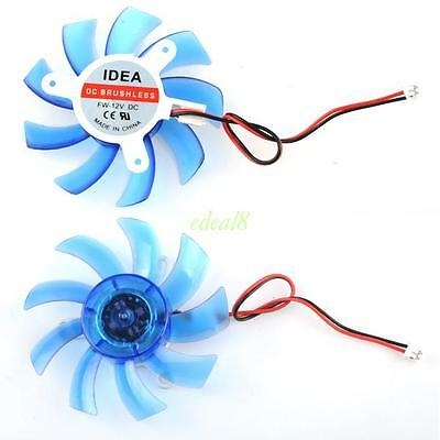 75mm 2Pin PC Video Graphics Card VGA Heatsink Cooler Cooling Replacement Fan 12V