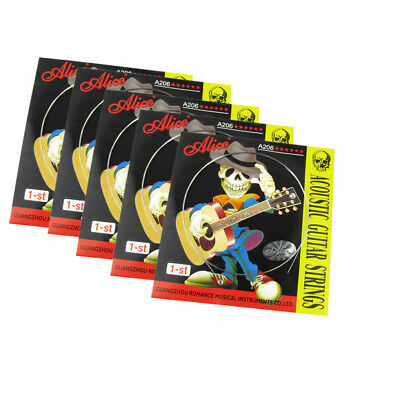"NEW 5PCS Alice Acoustic Guitar E Strings Stainless Steel 1st String .012"" 0.30mm"
