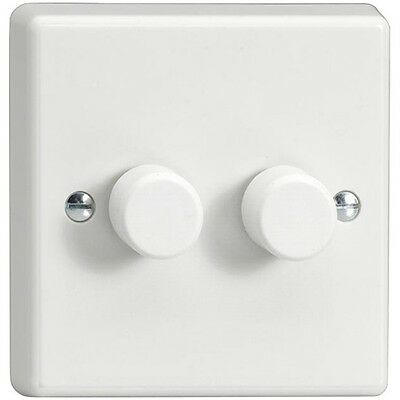 Varilight LED Dimmer Switch V Pro Series 2 gang 2 way Trailing Edge