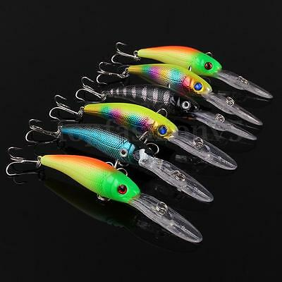 6pcs Esche Pesca Minnow Artificiali Esca Ganci Fishing Lures Fish Crank Baits