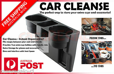 Car Cleanse Seat Drink Cup Holder Valet Travel Coffee Bottle Table Stand Food