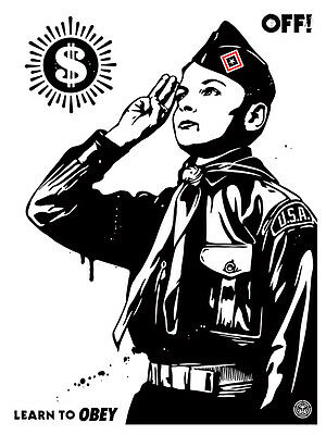 Lithographie Obey Shepard Fairey Learn To Obey