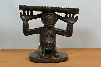 African Amazing luba Headrest from D R of Congo.