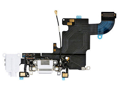 """White USB Dock MIC Charging Port Flex Cable Replacement Part for iPhone 6S 4.7"""""""