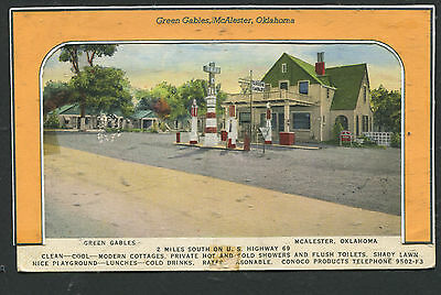 GREEN GABLES TOURIST COURT & CONOCO STATION, McALESTER, OK *