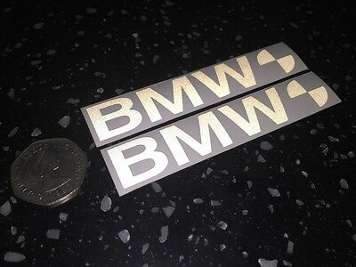 2x BMW Reflective SAFETY Motorcycle Helmet Stickers Hi Viz TT riding graphic