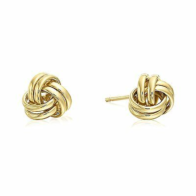 14k Yellow Gold Polished Love Knot Stud Earrings - 7mm