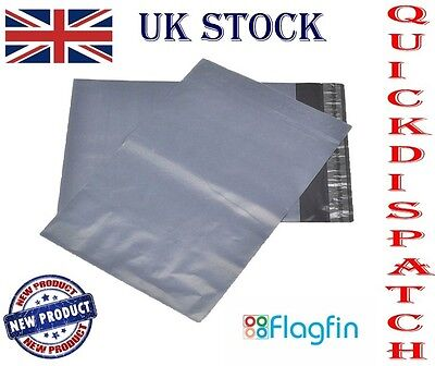 Gray Mailing Bags Strong Waterproof Peel And Seel - Select Quantity & Size