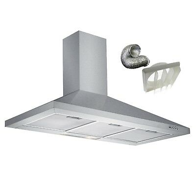 Cookology CH100SS | Stainless Steel 100cm Chimney Cooker Hood & Ducting Kit