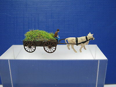 (GK03) farmer on a cart with grass cow figure Scale Gauge Z (1:220)