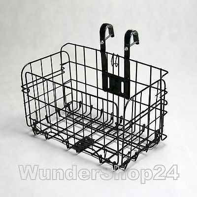 Foldable Metal Bike Basket Folding Handlebar Bicycle Accessories Black