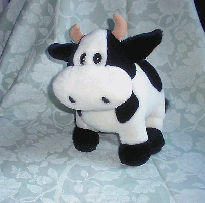 Lovely Soft Black and White Cow Soft Cuddly Plush Toy