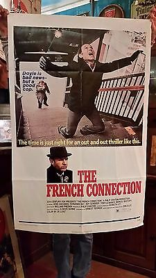 Rare Original 1971 Vintage 27 x 41 The French Connection Movie Theater Poster