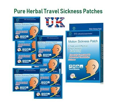 Motion Travel Sickness Mini Patch Anti Nausea Vomiting Pain Relief Car Sea Air