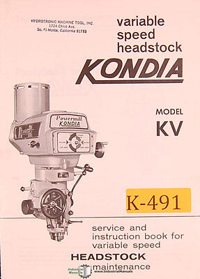 kondia fv 1 powermill milling machine service and parts manual rh picclick com Clausing Kondia Mill Manuals kondia powermill parts