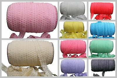 Lace Elastic Band Solid Colours by Yard DIY for Baby Headband Hair Ties Sewing