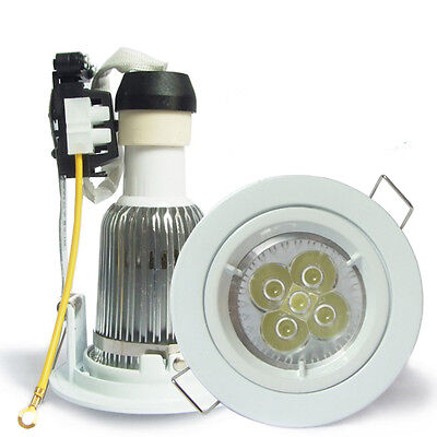 10W LED Recessed GU10 Ceiling Downlight Kit spot lamp dimmable white cutout 70mm